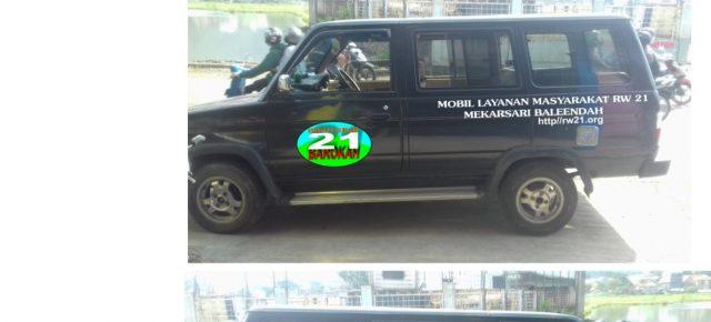 RW21 Mekarsari Lengkapi Fasilitas Beli Mobil Layanan Masyarakat